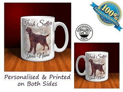Irish Setter Personalised Ceramic Mug: Perfect Gift. (D077)