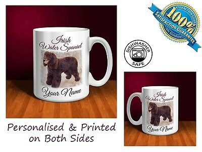 Irish Water Spaniel Personalised Ceramic Mug: Perfect Gift. (D057)
