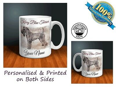 Kerry Blue Terrier Personalised Ceramic Mug: Perfect Gift. (D022)