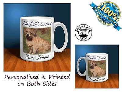 Norfolk Terrier Personalised Ceramic Mug: Perfect Gift. (D006)