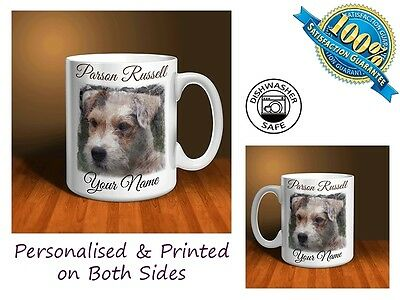 Parson Russell Terrier Personalised Ceramic Mug: Perfect Gift. (D010)