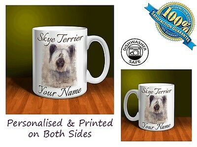 Skye Terrier Personalised Ceramic Mug: Perfect Gift. (D041)