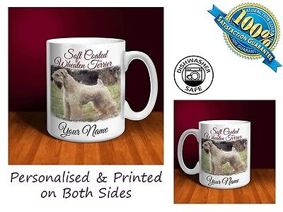 Soft Coated Wheaten Terrier Personalised Ceramic Mug: Perfect Gift. (D023)