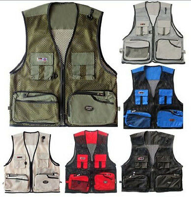 Men Jacket Outdoor Multi-Pocket Vest Travelers Fly Fishing Photography Quick-Dry