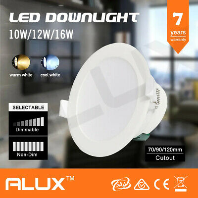 7 Yr Wrnty 10W/12W/16W Ip44 Saa Dim/non-Dim Led Downlight Kit Warm/cool White