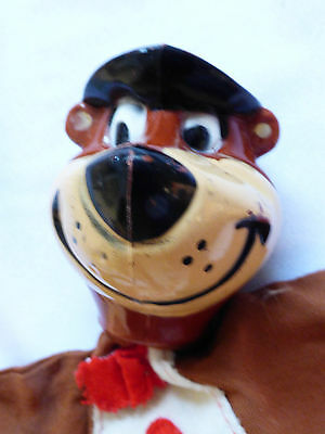 VTG 1960's Hanna Barbera Yogi Bear Puppet Doll  Plastic Head cloth body
