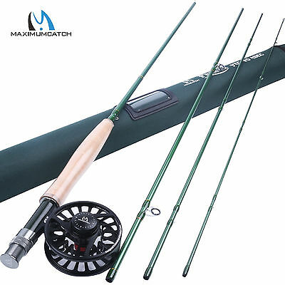 9FT 5WT Fast Action Fly Fishing Rod and 5/6WT CNC Machined Aluminium Reel Combo