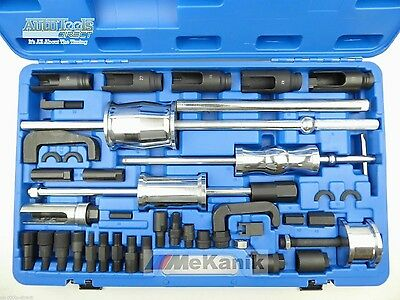 40Pc Diesel Injector Extractor With Common Rail Adaptor Slide Hammer Tool Set