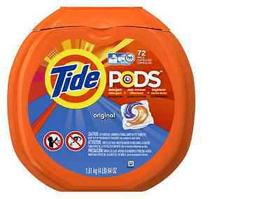 New Tide Pods 72Count Original Scent 3-in-1 HE Laundry Detergent High-Efficiency