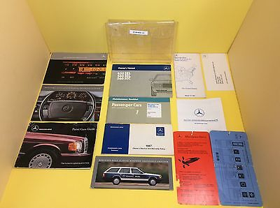 1987 Mercedes 420Sel 560Sel Owners Manual With Wallet W126 Rare Set Item# La43
