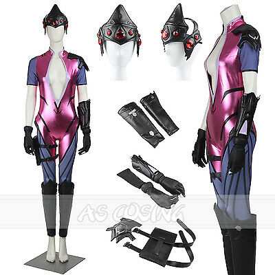 Overwatch Widowmaker AmElie Lacroix Cosplay Costume All Size