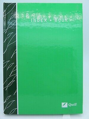 Quill AA5 Index Book A-Z 128 x 182mm Ruled 160P Green Hard Cover - 10406*
