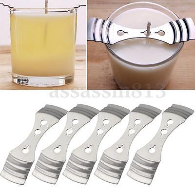 5Pcs Stainless Steel Candle Wick Centering Device Candle Wicks Holders Clips