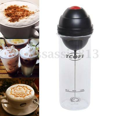 400ML Electric Milk Frother Foam Machine Automatic Mixing Mixer Coffee Glass Cup