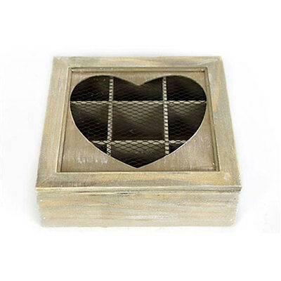 Tea Box with a Wire Heart in Lid