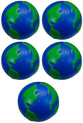 5 x PLANET EARTH ANTI-STRESS RELIEVER BALL STRESSBALL AUTISM, OFFICE ARTHRITIS