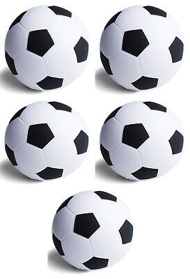 5 x FOOTBALL SHAPED ANTI-STRESS RELIEVER, STRESSBALL, PHYSIO, SPORTS, ARTHRITIS
