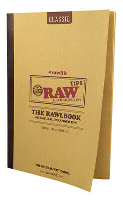 1x RAW The RAWlbook 480 Classic Tips pro Heft ungebleicht unbleached