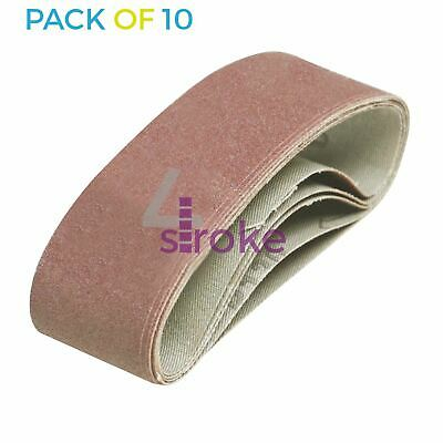 10 x 40mm x 305 mm 120 Grit Fine Sander Sanding Belt Belts 40 305 mm