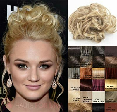 Women'S Elastic Band Wrap Around Small Curly Schrunchies Hair Piece 90008X