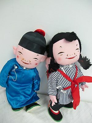 Michael Lee Micale Dolls Chinese Family Dolls Mom Dad Child #403 With Tag