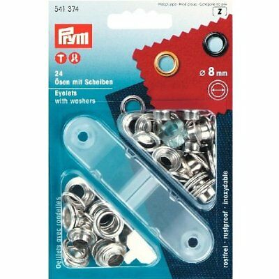 Prym Eyelets and Washers Brass Silver 80 mm
