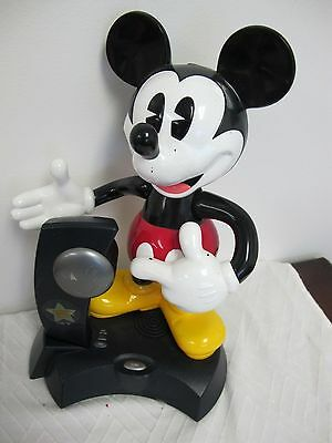 Vintage Disney Animated Talking  Mickey Mouse Phone Cordless  Telemania