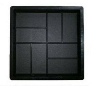 Plastic Mold Pattern Walkway Concrete Stepping Paving Mould Stone Garden Rock