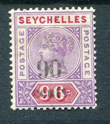 Seychelles 1893 90c on 96c SG21 MM