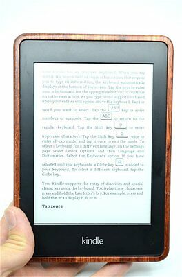 KINDLE Paperwhite Wooden Case in African Black Wood