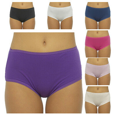 New 5 Pack Ladies Womens Cotton Midi Briefs Pants Knickers Underwear Size 12-20