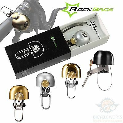 RockBros Ringer Bell Bicycle Brass Stainless Steel Alloy Road MTB Fixie Bike NEW