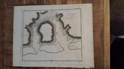 Circa 1781 J.Cook & Duff Map - Cook's Voyages - HARBOURS NORTH SIDE OF EIMEO