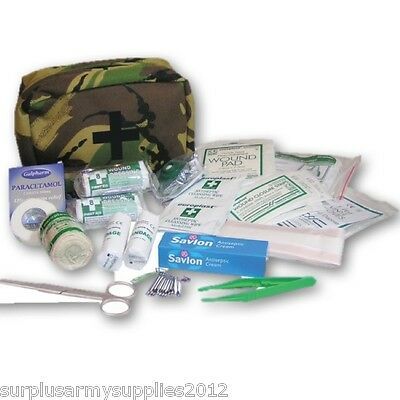 Large Military First Aid Kit Dpm Pouch Army Medic Plasters Bandages Resuscitator
