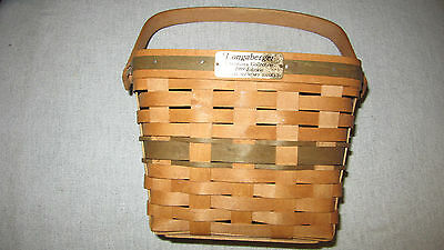 Longaberger 1989 Christmas Collection Holiday Memory Basket--Green Highlights