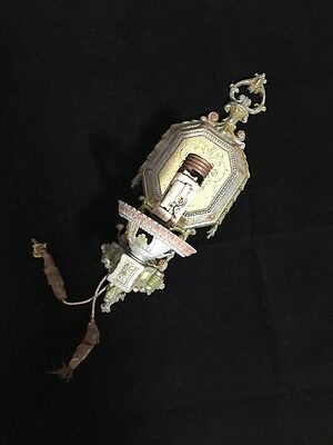 Antique 1930's Isco Single Arm Polychrome Wall Sconce