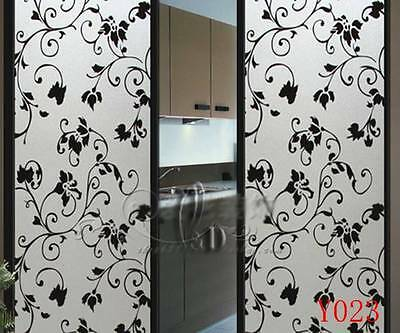90cm x5m Static Glueless Reusable Removable Frosted Window Glass Film Y023