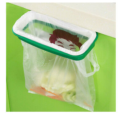 1x Folding Hanging Trash Rubbish Bag Holder Garbage Rack Cupboard Storage Hanger