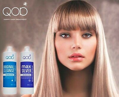 QOD MAX SILVER Brazilian Keratin Hair Straight.Treatment 2erKit formaldehydfrei