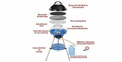 Campingaz Party Grill 600 - Easy to clean gas BBQ/Grill NEW Design for 2016