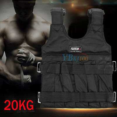20KG Adjustable Workout Weight Weighted Vest Exercise Crossfit Training Fitness