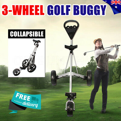 Cruiser 3-Wheel Swivel Golf Buggy Bag Anti-shock 360° Wheels Foldable Trolley