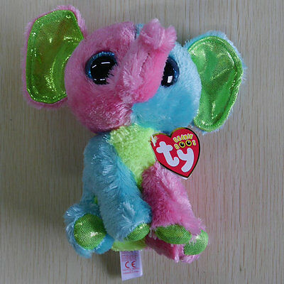 Lovely Gift For Kids Justice Elfie Pink green Elephant 6 inch STUFFED DOLL NEW