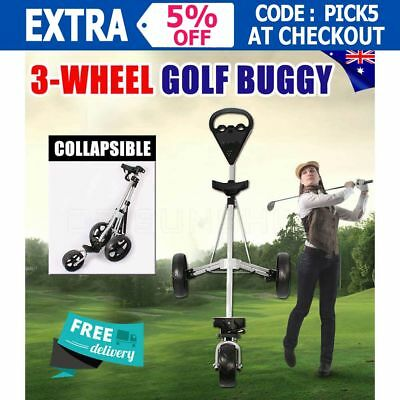 2017 Cruiser 3-Wheel Swivel Golf Buggy Bag Anti-shock Wheels Lightweight New OZ