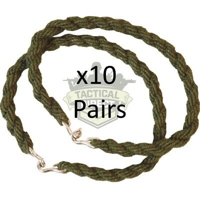 10 Pairs Army Trouser Twisters Mtp Green Twists Twisties Hiking Cadet Soldier