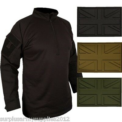 Spec Ops Ubac Armour Shirt Ripstop Uk Patch Black Top Paintballing Airsoft