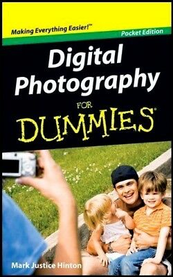 DIGITAL PHOTOGRAPHY FOR DUMMIES :  Pocket Edition : WH1/2 : PBS402 : NEW BOOK