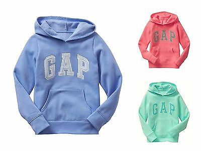 Gap Kids Hoodie New Girl Embroiderded  Arch Logo Fleece Pullover Sweatshirt XXL