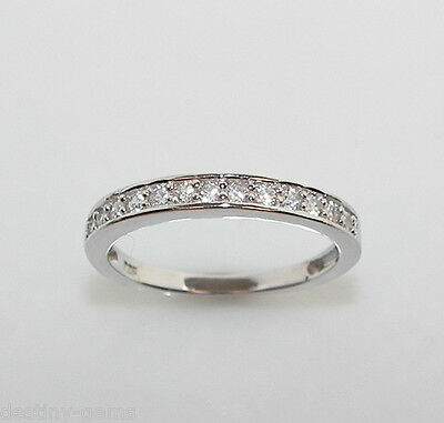 New 925 Sterling Silver Half Eternity Infinity Created Diamond Ring