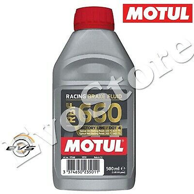 MOTUL RBF 660 DOT 4 Factory Racing Olio Liquido Freni Auto Moto 100% SINT 500ml